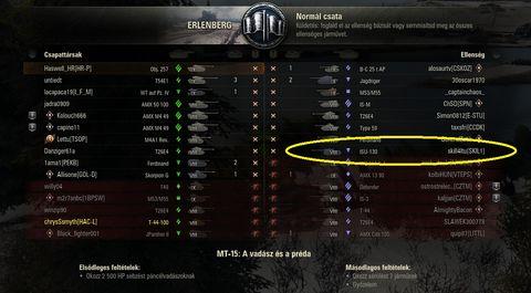 Tankok világa 1. szintű mérkőzés
